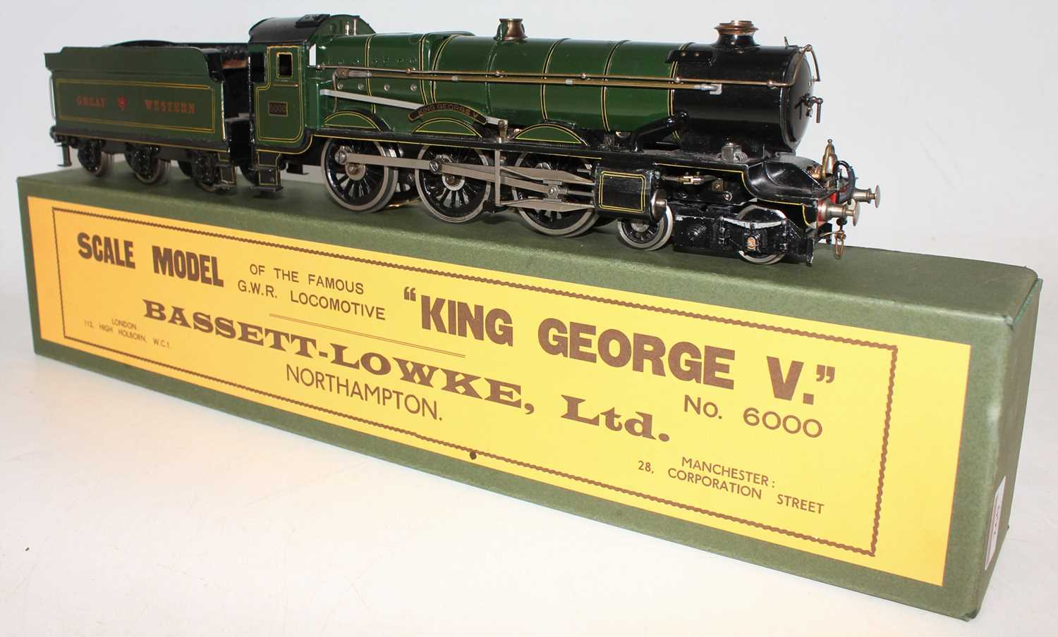 """Marklin for Bassett-Lowke O Gauge 4-6-0 Loco and Tender Great Western green """"King George V"""" No.6000, - Image 2 of 15"""