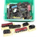 One tray containing a large quantity of various locomotive spare parts and accessories to include