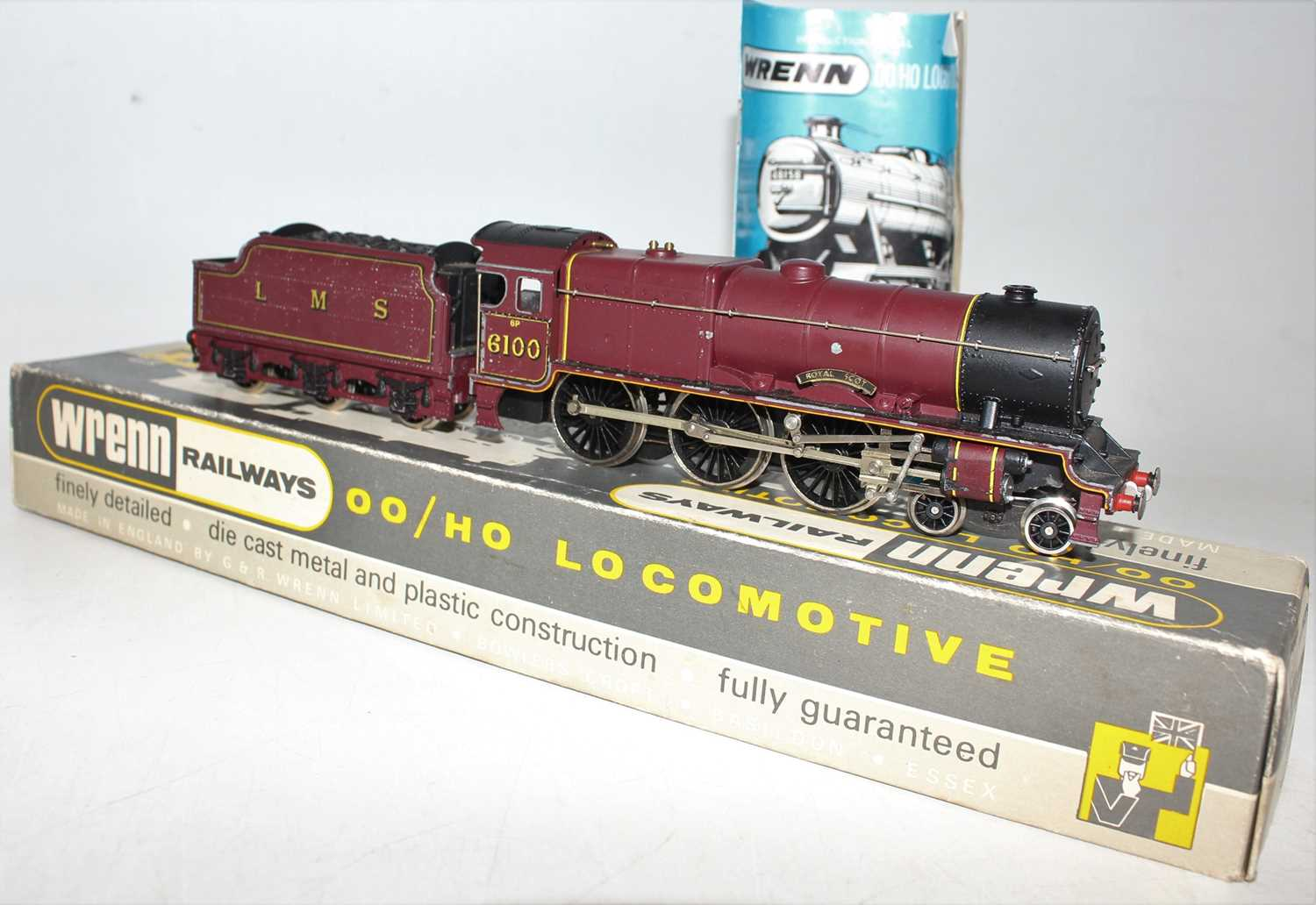 W2260 Wrenn loco & tender 'Royal Scot' 4-6-0 No.6100, LMS red, chips to cylinder covers, - Image 2 of 3