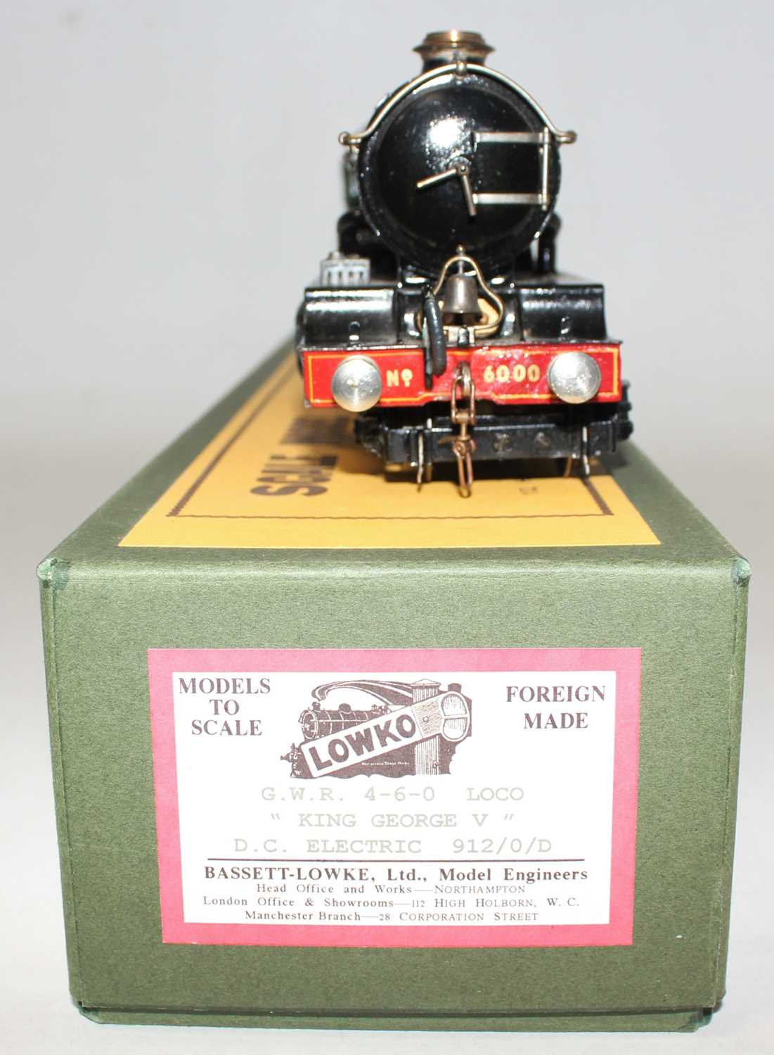 """Marklin for Bassett-Lowke O Gauge 4-6-0 Loco and Tender Great Western green """"King George V"""" No.6000, - Image 3 of 15"""