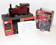 Accucraft Gauge 1 Live Steam Gas Fired model of a Caradoc 0-4-0 Tank Locomotive, finished in