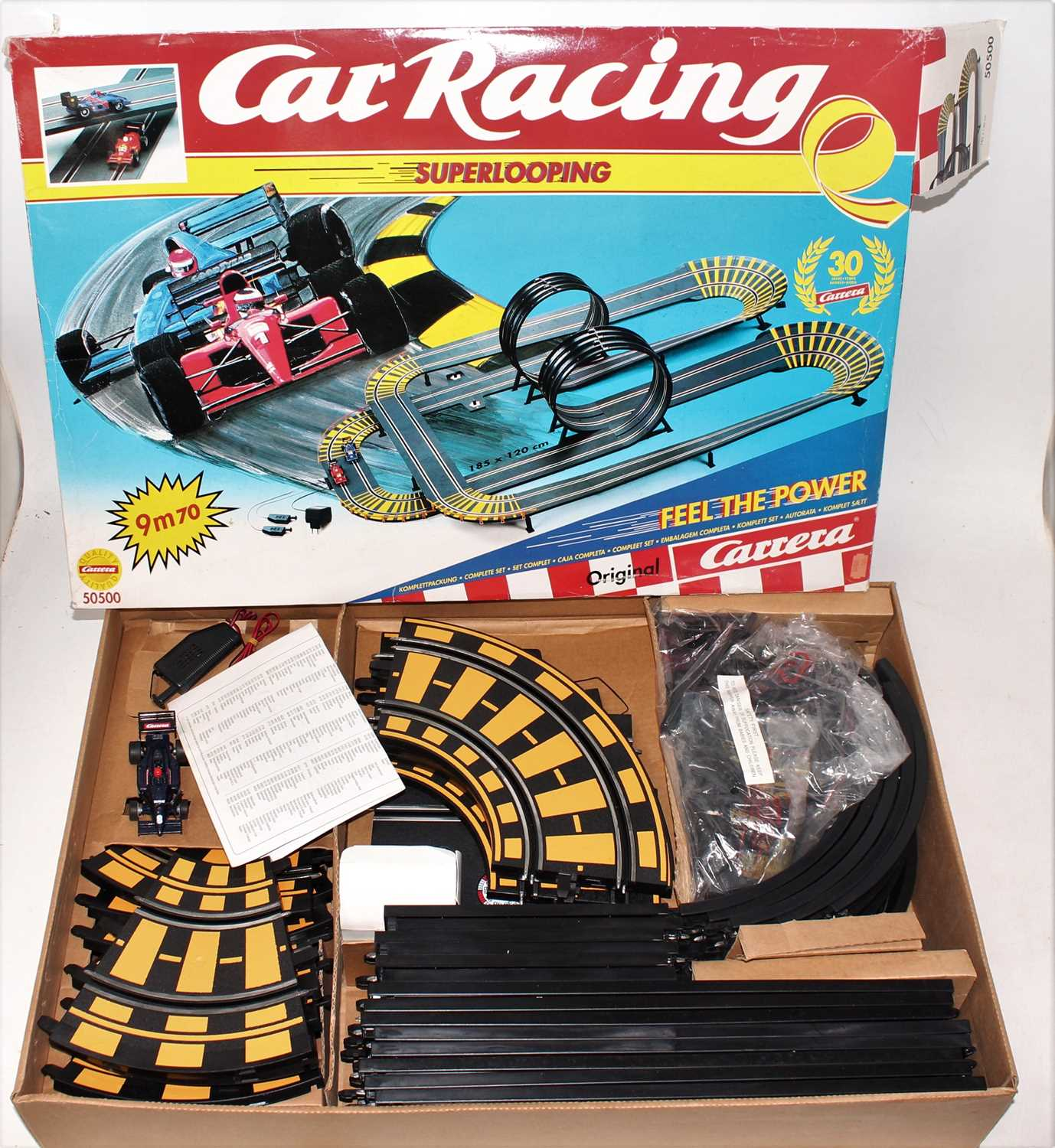 Three various boxed Carerra and Scalextric boxed slot car racing gift sets to include a Carerra - Image 3 of 4