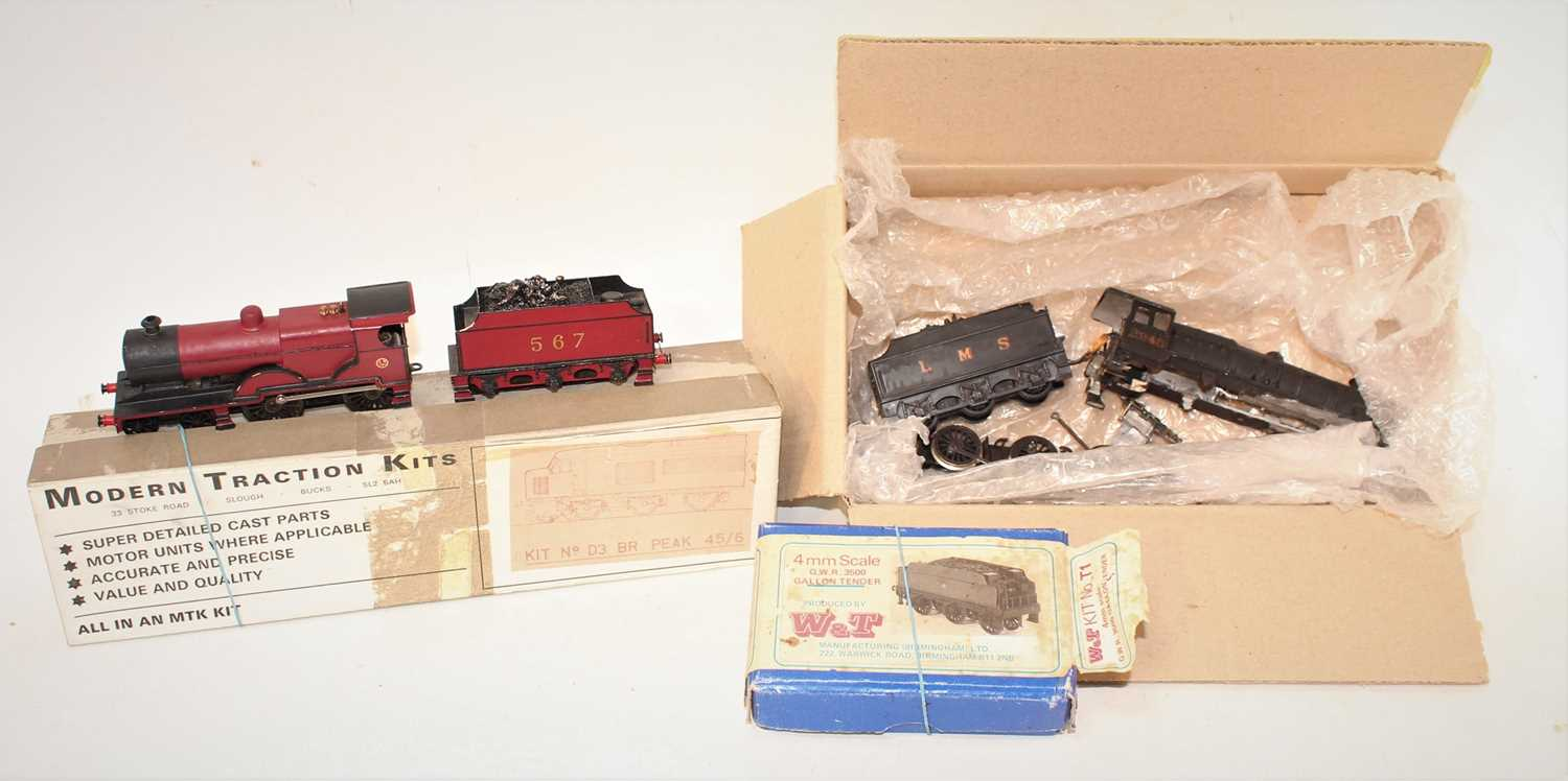 A mixed lot of various 00 gauge white metal part built locomotives, kits etc to include an MTK
