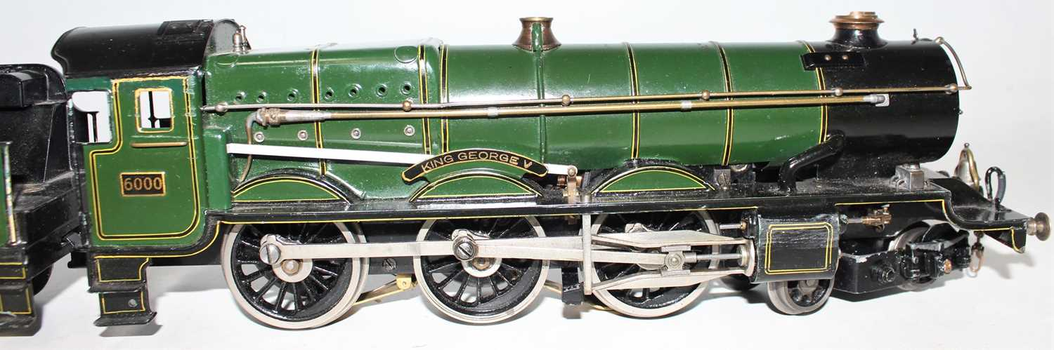 """Marklin for Bassett-Lowke O Gauge 4-6-0 Loco and Tender Great Western green """"King George V"""" No.6000, - Image 9 of 15"""