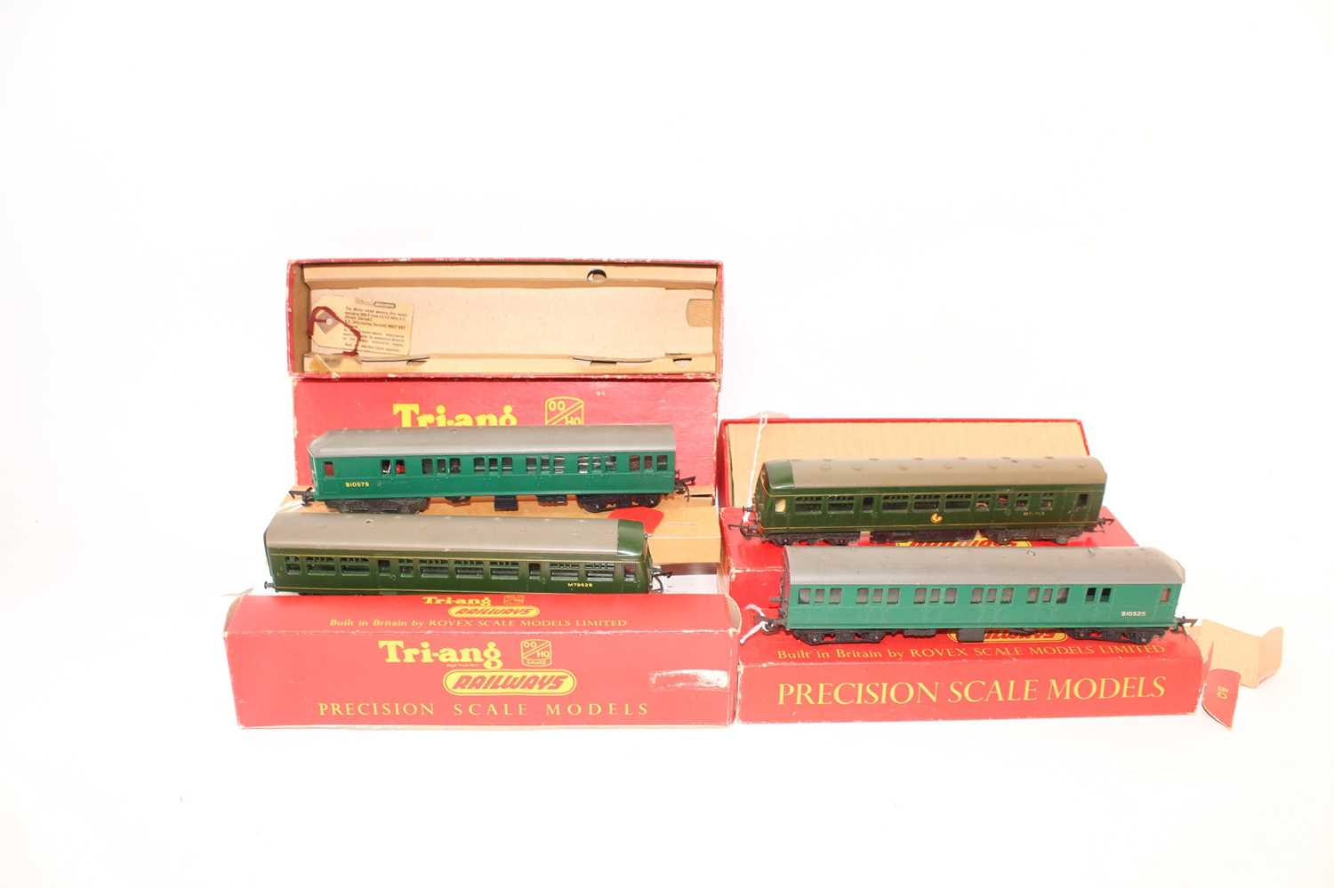 Triang class 4-sub EMU green R156/225 S1052S & S1057S without decals (G-VG) R156 (BE) complete - Image 2 of 3