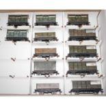 13 Post War Hornby Dublo Goods Wagons, 4x 4 window cattle, 3x Open, Goods Van and 4 Goods Brakes,