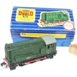 3231 Hornby Dublo 0-6-0 Diesel Shunter, 3 rail, one piece rods, with instructions and test tag (VG-
