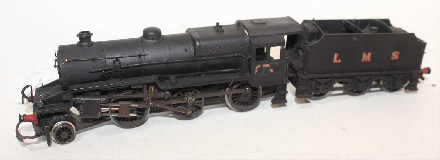 A kit built 00 gauge Hughes white metal Fowler Crab 2-6-0 locomotive finished in black with LMS