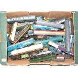 One tray containing a large quantity of various 00 gauge spare parts to include locomotive bodies,