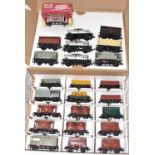 24 Hornby Dublo plastic goods wagons, including Traffic Services, Presflo, Prestwin, Goods Brakes,