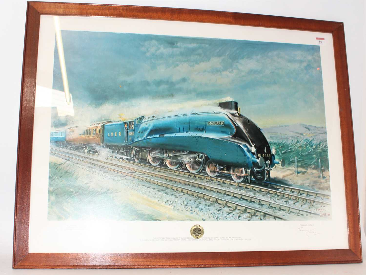 Framed and Glazed landscape print of Mallard on Stoke Bank to commemorate the 50th anniversary of - Image 2 of 2