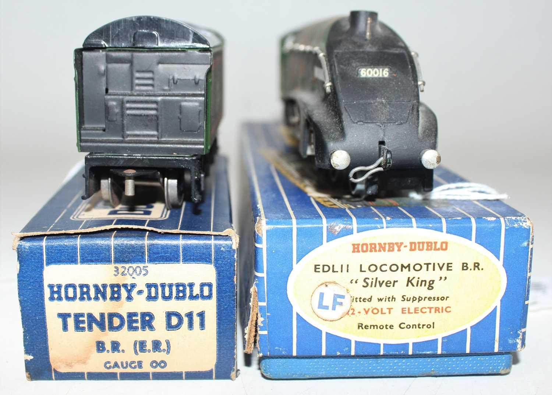 Hornby Dublo EDL11 Silver King, 3-rail loco and tender, matt, very dusty (VG-BG), tender has no - Image 3 of 3