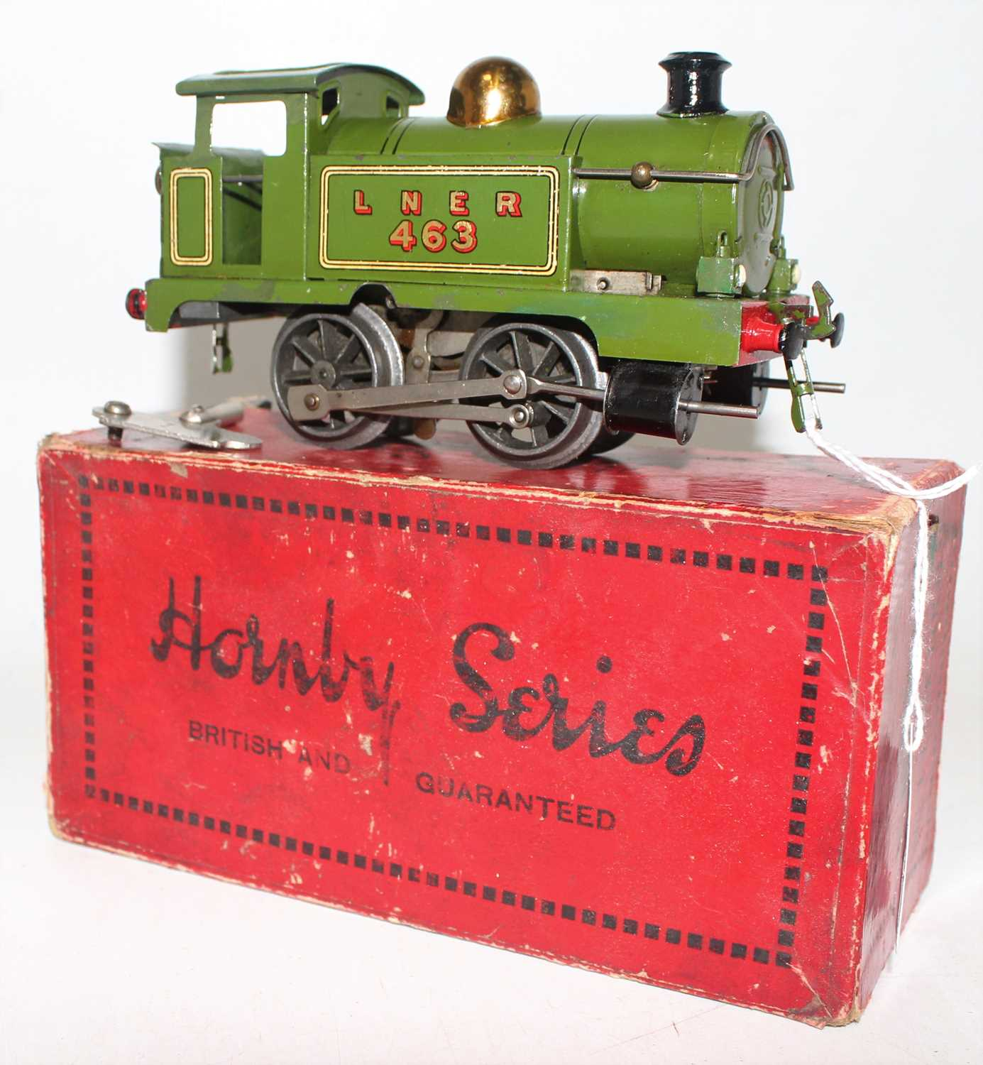 Hornby 1928 No.1 Tank Clockwork loco 0-4-0 LNER Green No.463, brass dome, green smokebox, two - Image 2 of 2