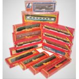 14 various boxed 00 gauge passenger coaches and rolling stock, mixed examples, some housed in