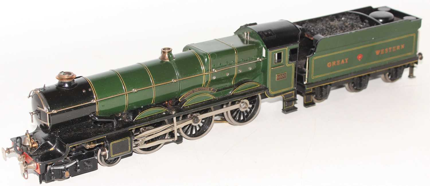 """Marklin for Bassett-Lowke O Gauge 4-6-0 Loco and Tender Great Western green """"King George V"""" No.6000, - Image 13 of 15"""