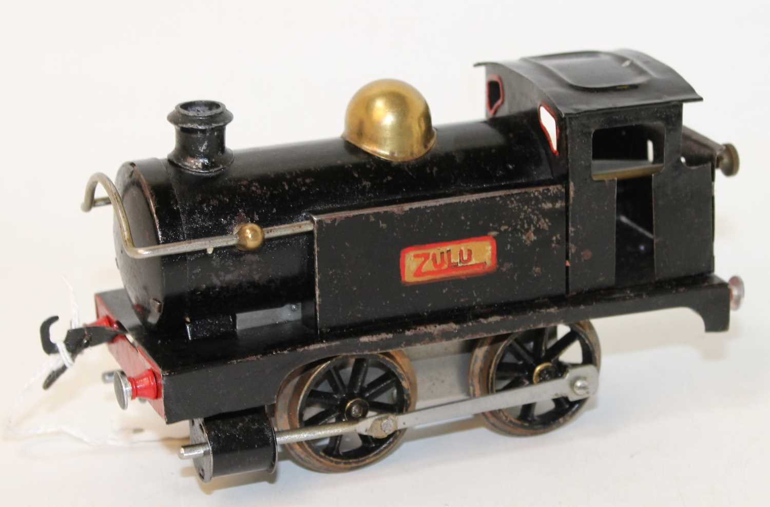 1922-3 No. 1 tank loco 'Zulu' plain black, rods painted silver, some dents and noticeable chips (
