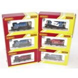 Six various boxed Hornby 00 scale 0-4-0 tank locos, some duplicates to include a No. R2672