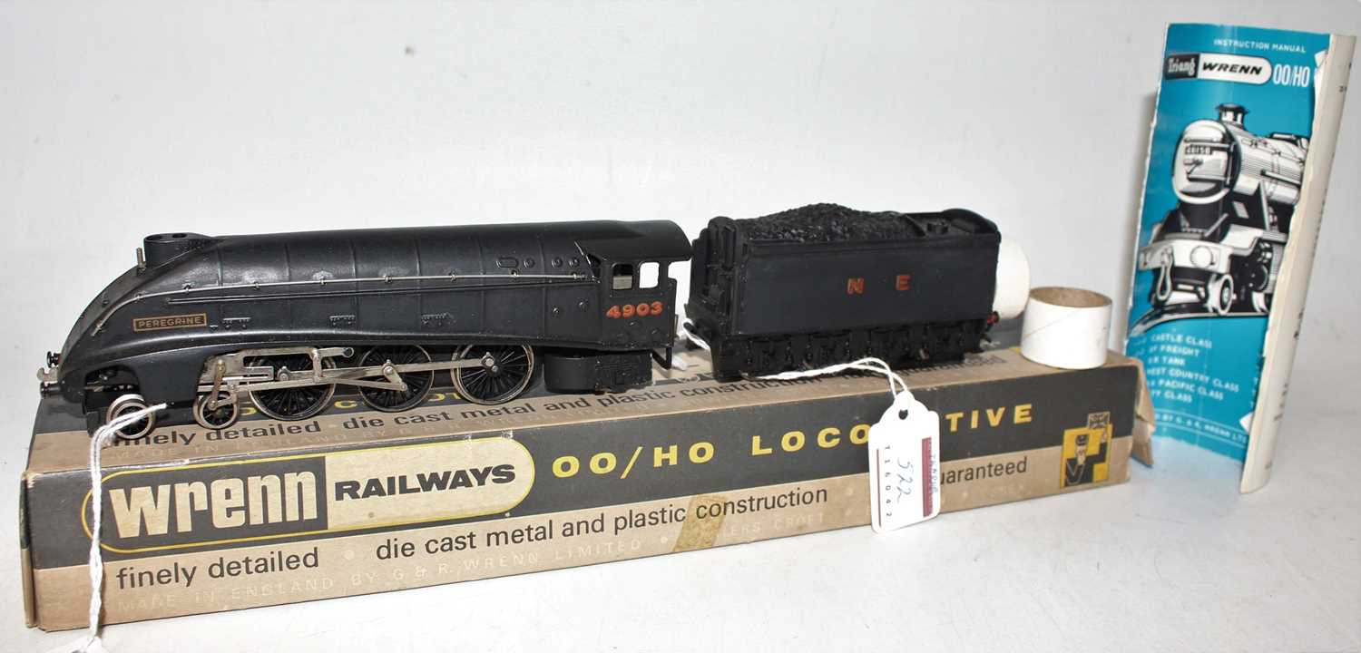 W2213 Wrenn loco & tender A4 4-6-2 'Peregine' N.E. 4903 wartime black, weight in tender needs re-