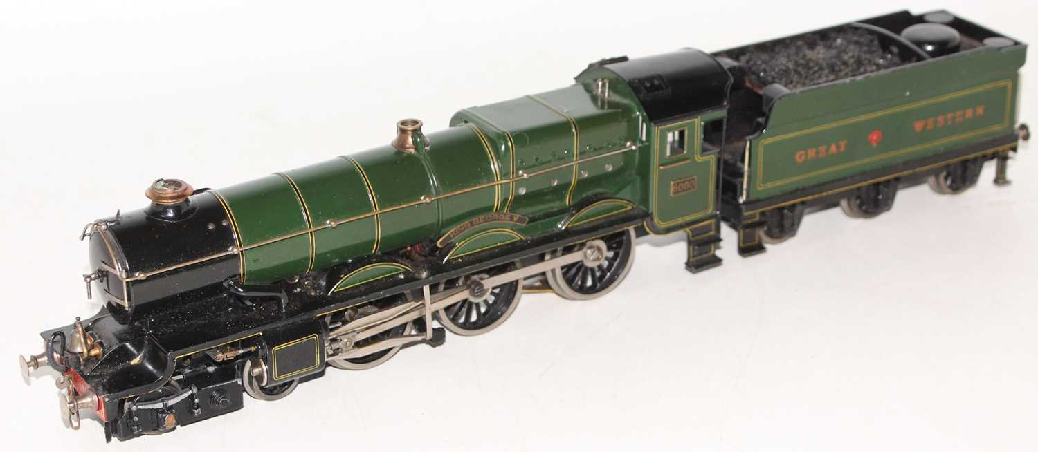"""Marklin for Bassett-Lowke O Gauge 4-6-0 Loco and Tender Great Western green """"King George V"""" No.6000, - Image 14 of 15"""