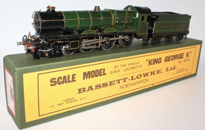 "Marklin for Bassett-Lowke O Gauge 4-6-0 Loco and Tender Great Western green ""King George V"" No.6000,"