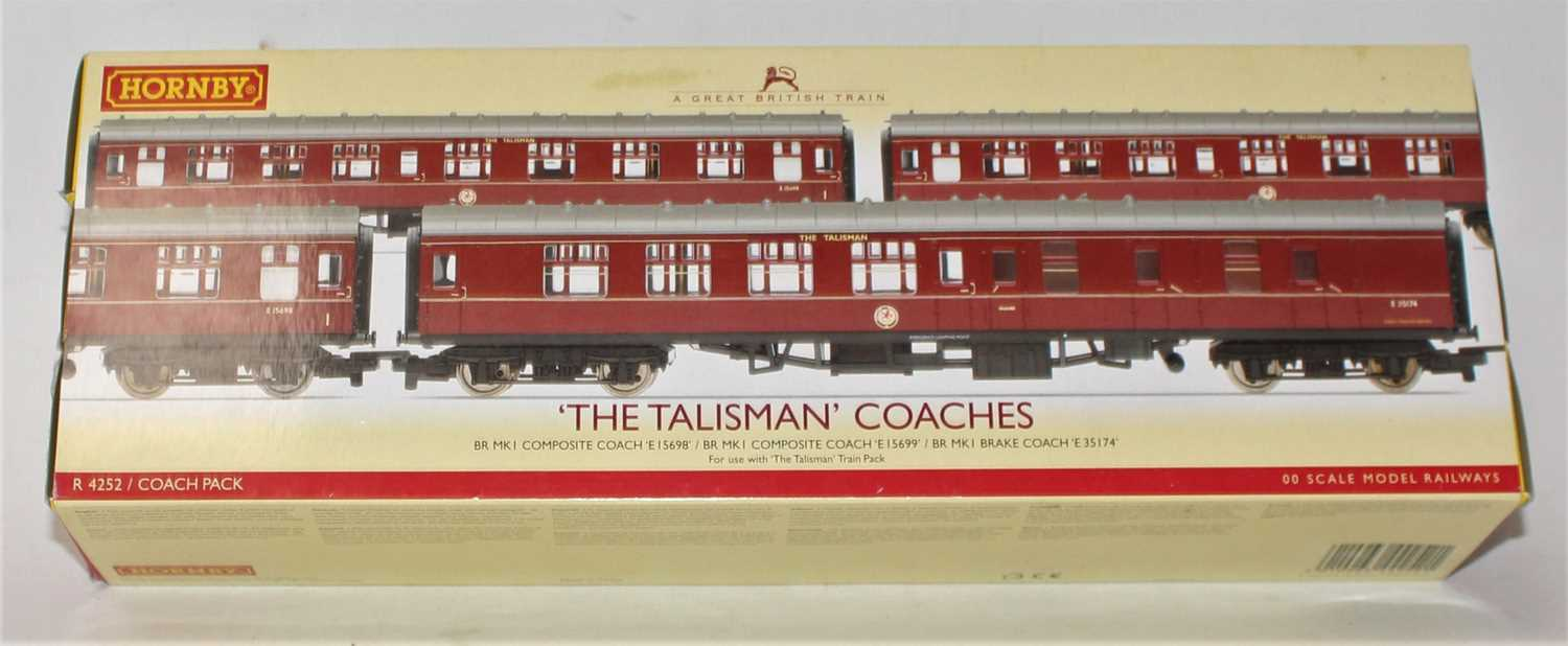 A Hornby Railways No. R4252, The Talisman coach pack comprising of three coaches housed in the