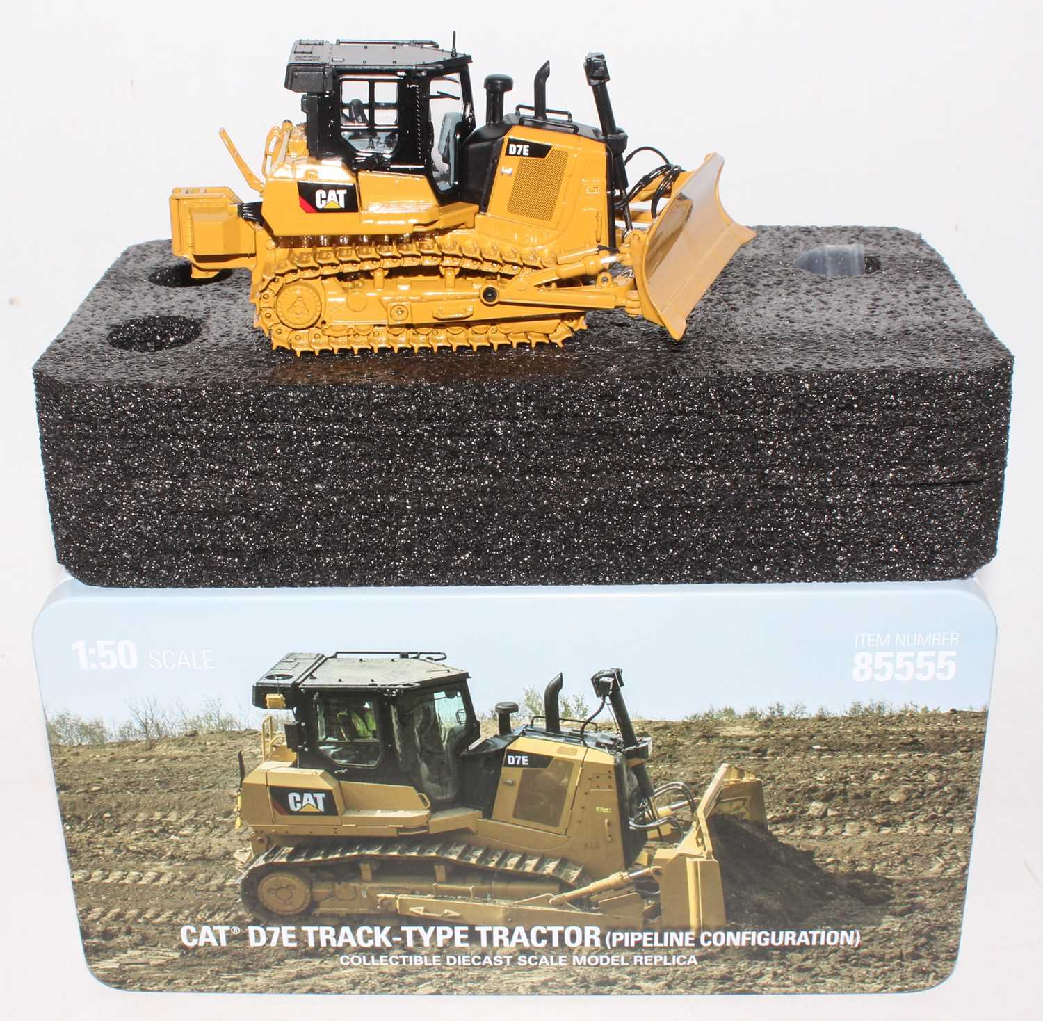 A diecast Masters Real Replicas, Highline Series 1/50 scale diecast model of a Caterpillar D7E track - Image 2 of 2
