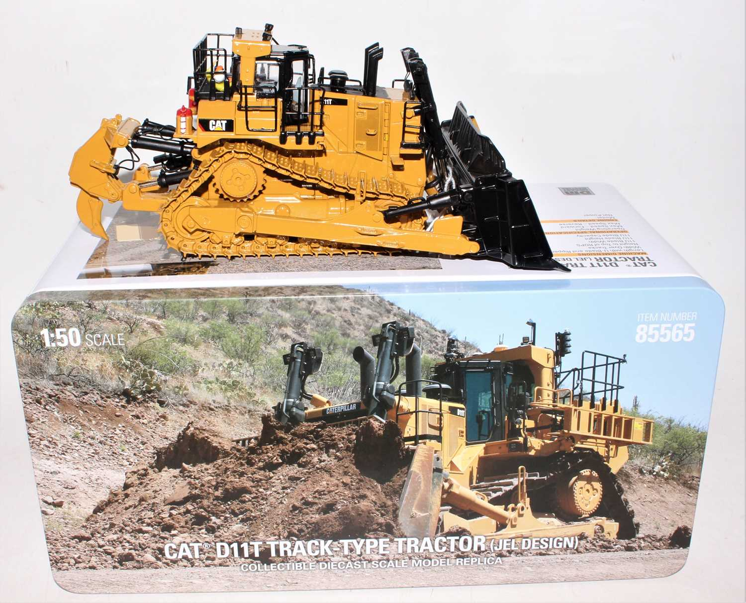 A diecast Masters Real Replicas Highline Series model No. 85565 1/50 scale model of a Caterpillar - Image 2 of 2