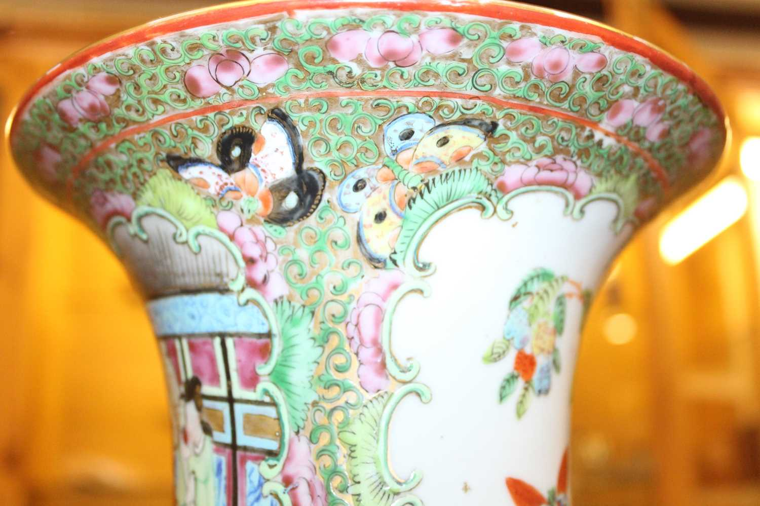 A 19th century Chinese Canton famille rose vase, enamel decorated with ceremonial figure scenes - Image 16 of 18