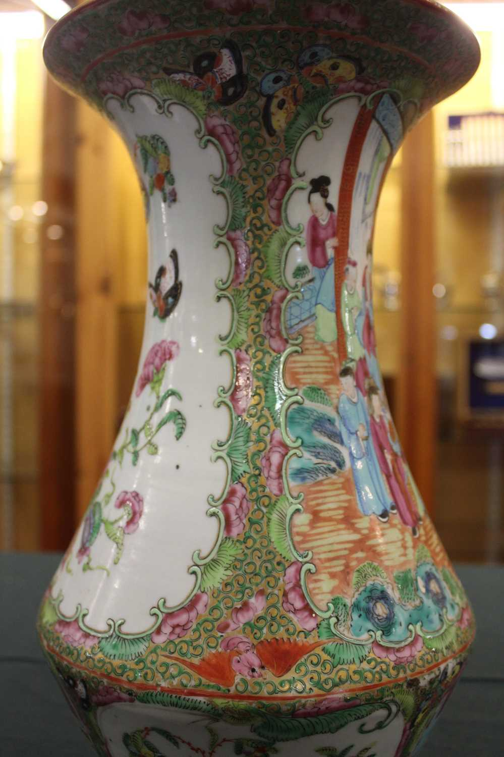 A 19th century Chinese Canton famille rose vase, enamel decorated with ceremonial figure scenes - Image 11 of 18