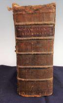 AINSWORTH, Robert. Thesaurus Linguae Latinae compendiarius, OR, A Compendius Dictionary of the Latin
