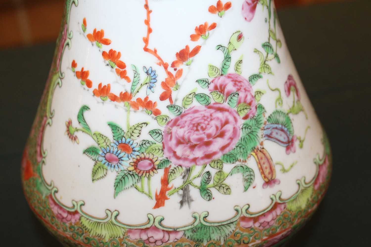 A 19th century Chinese Canton famille rose vase, enamel decorated with ceremonial figure scenes - Image 8 of 18