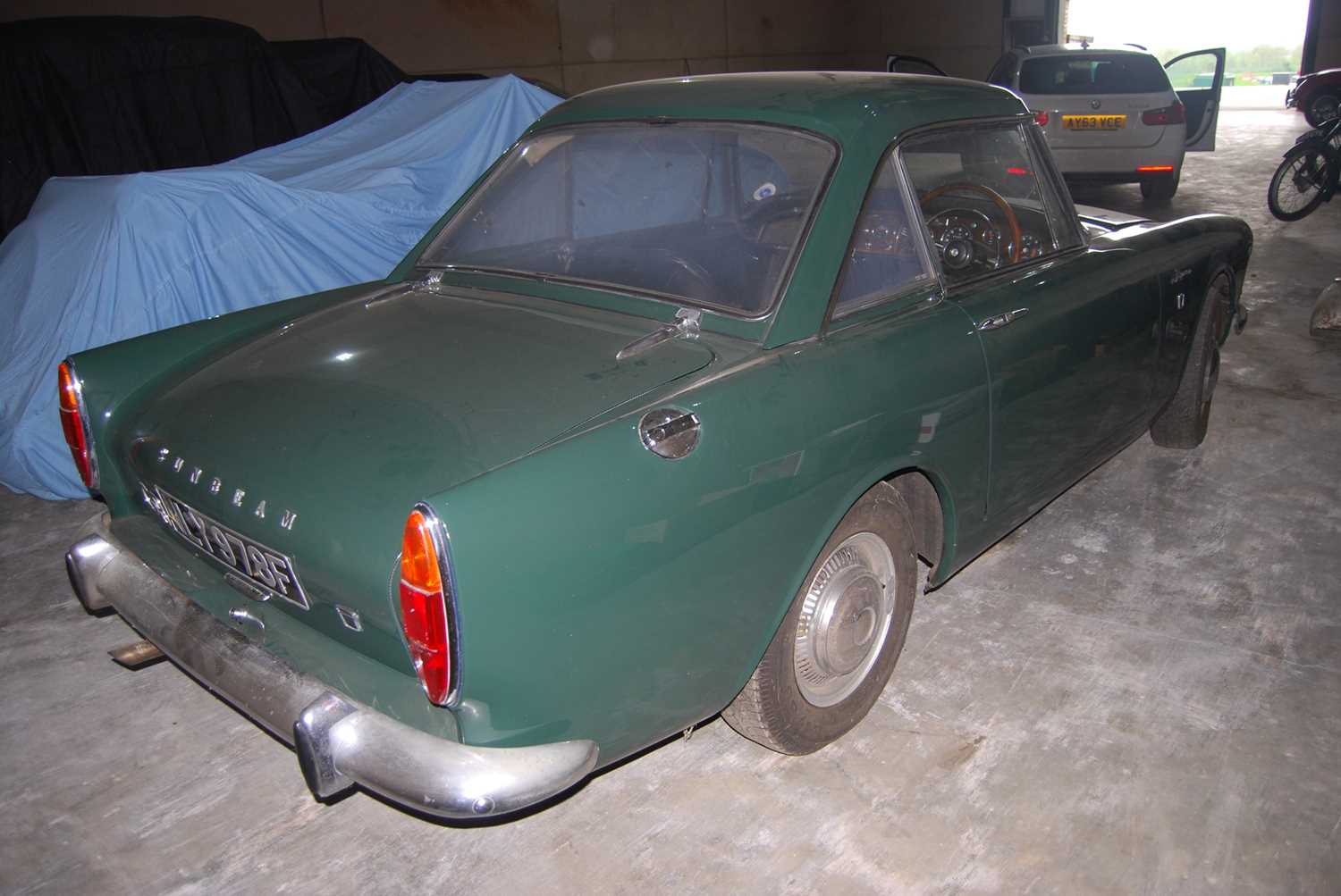 A 1968 Sunbeam Alpine Series V GT Reg No. NLY978F Chassis No. B395016307GTOD Green with Black - Image 11 of 43
