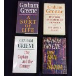 GREENE, Graham. 'Our Man in Havana', 'A Sort of Life' and 2 others. 4 1st edition titles,