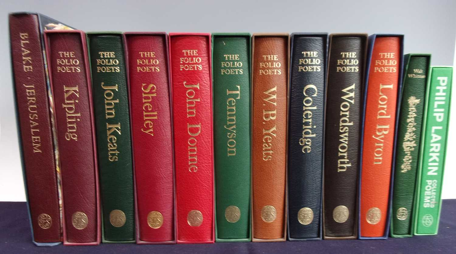 A Collection of Folio Society Poets to include Keats, Tennyson, Shelley and others. Folio Society,