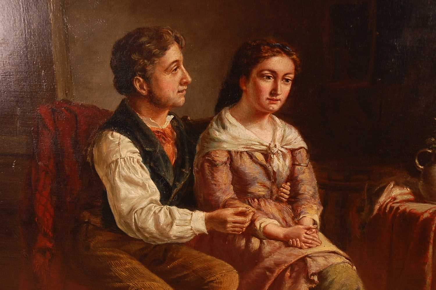 Erskine Nichol (1824-1904) - The Proposal, oil on canvas, signed with monogram and dated '88 lower - Image 3 of 5