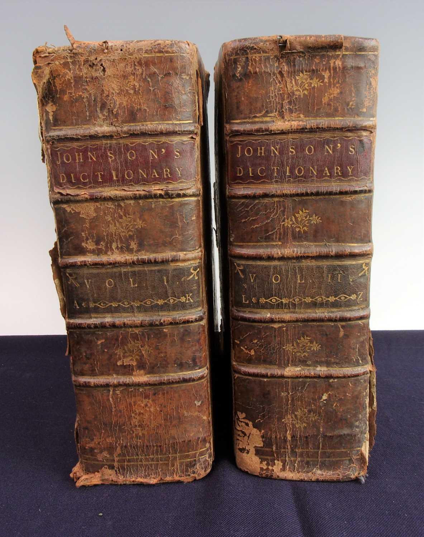 JOHNSON, Samuel. A Dictionary of the English Language. Thomas Ewing, Dublin, 1775. 4th Edition. In