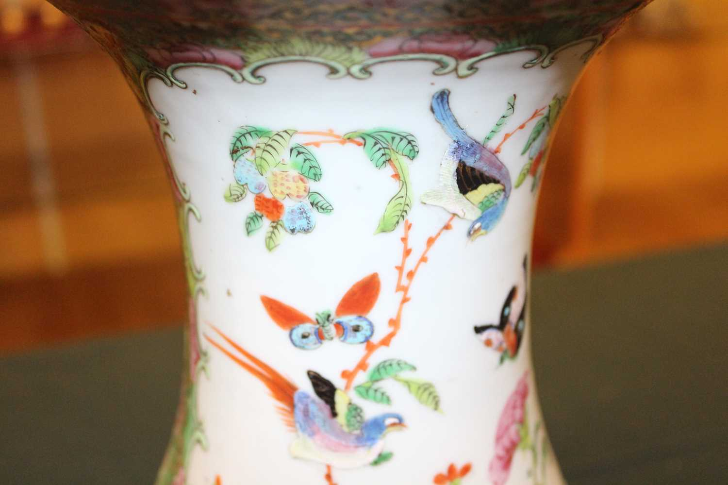 A 19th century Chinese Canton famille rose vase, enamel decorated with ceremonial figure scenes - Image 7 of 18