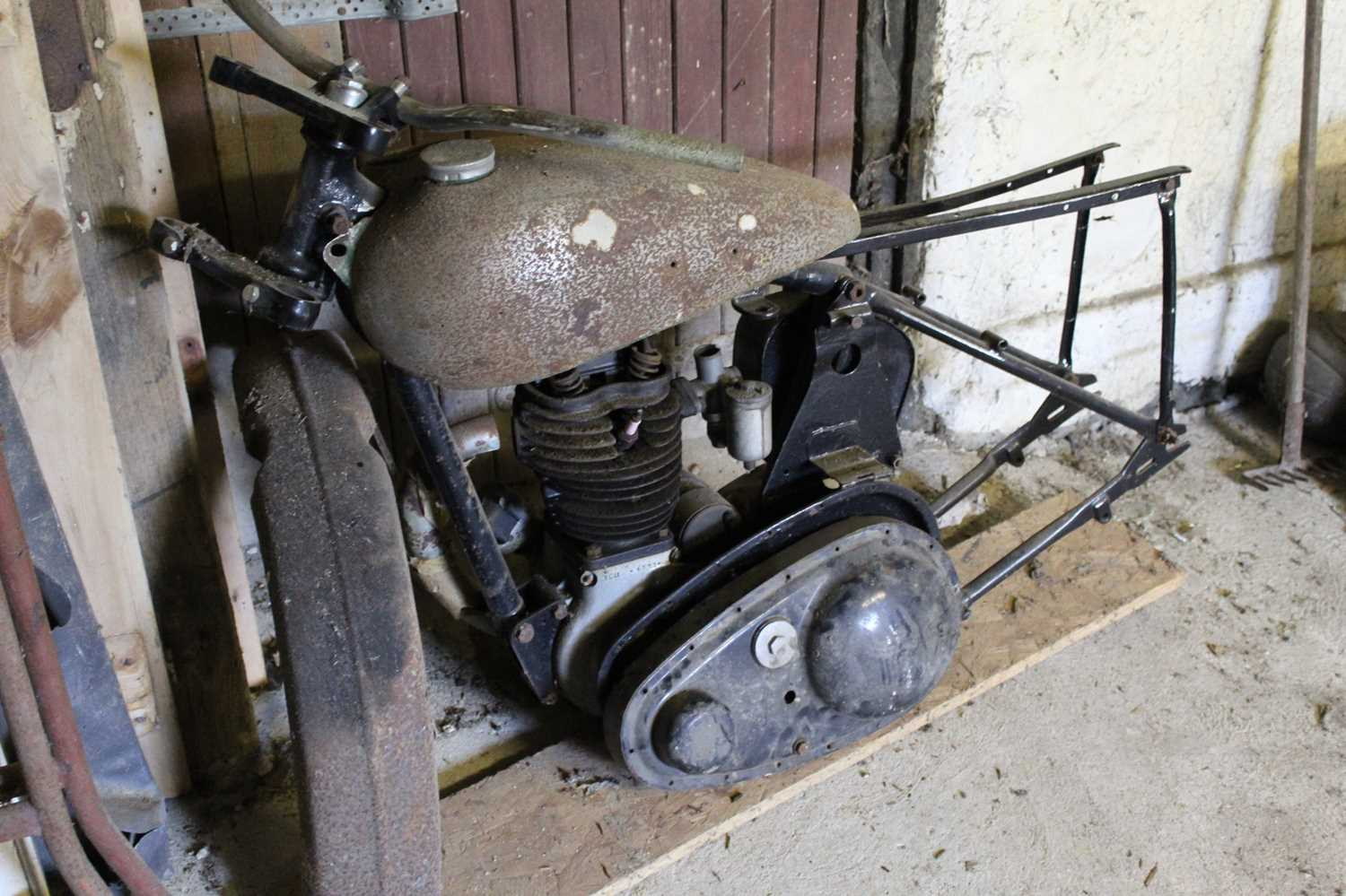A 1948 BSA C11 project for restoration, engine No. YC11 4331, frame number YC 10/77076 IMPORTANT - Image 3 of 4