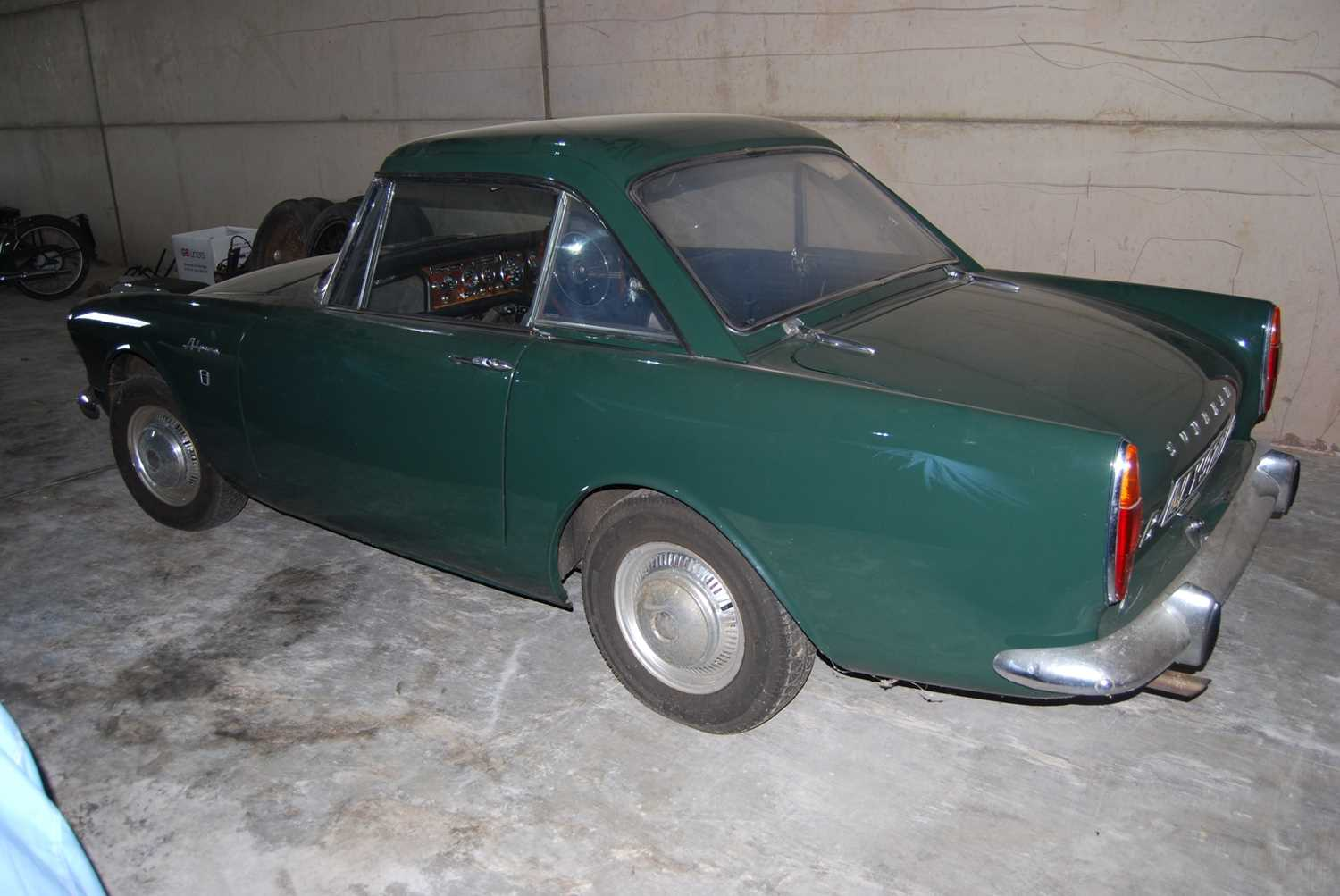 A 1968 Sunbeam Alpine Series V GT Reg No. NLY978F Chassis No. B395016307GTOD Green with Black - Image 8 of 43