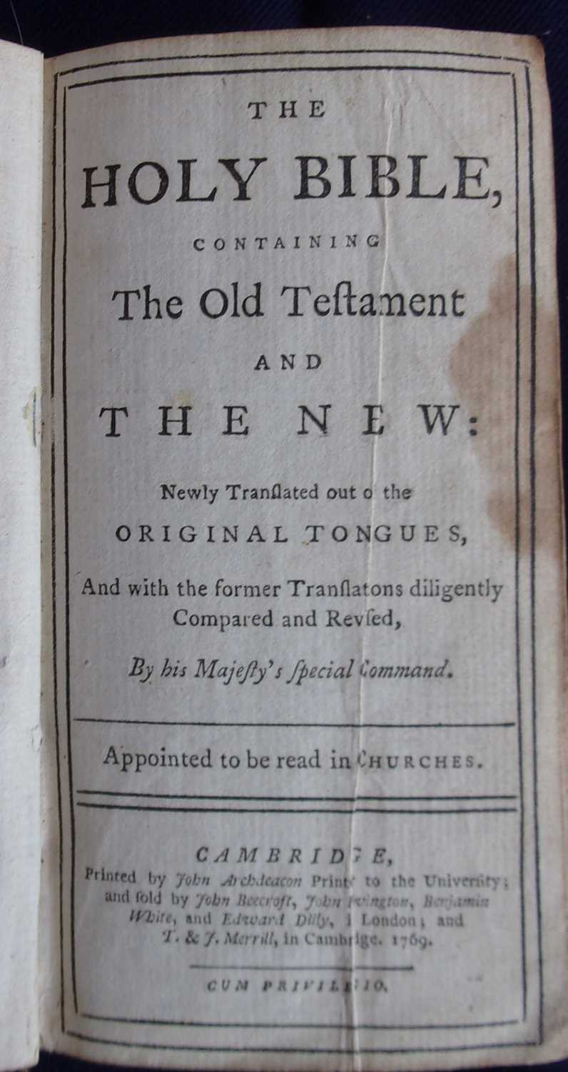 The Holy Bible, containing the Old and New Testaments; Newly translated out of the Original Tongues, - Image 3 of 3