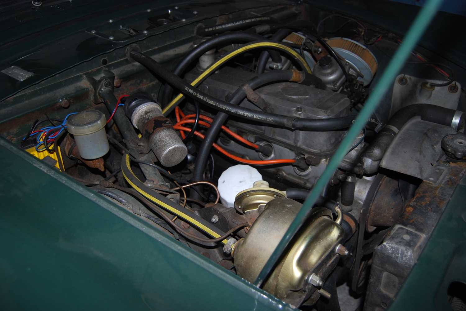 A 1968 Sunbeam Alpine Series V GT Reg No. NLY978F Chassis No. B395016307GTOD Green with Black - Image 21 of 43