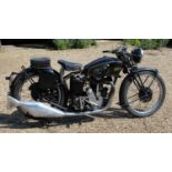 A 1937 Velocette KSS 350cc, registration No. HV 8924, a fine example which was restored a few
