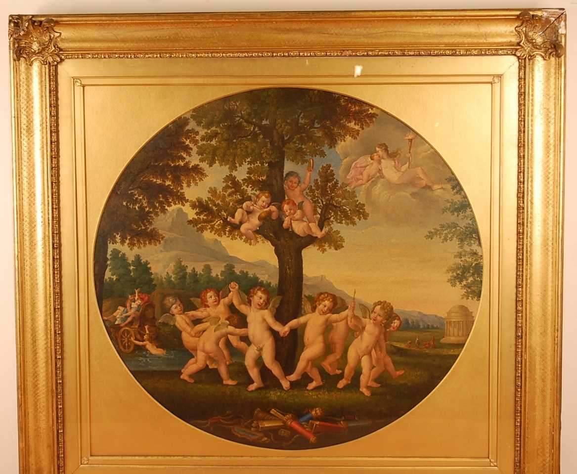 Guandallini Cententa (Italian 19th century) - Rape of Proserpine, oil on canvas, signed and dated - Image 2 of 9