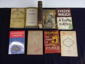 WAUGH, Evelyn. A collection of 1st edition titles. The Loved Ones, Helena, Love Among the Ruins,