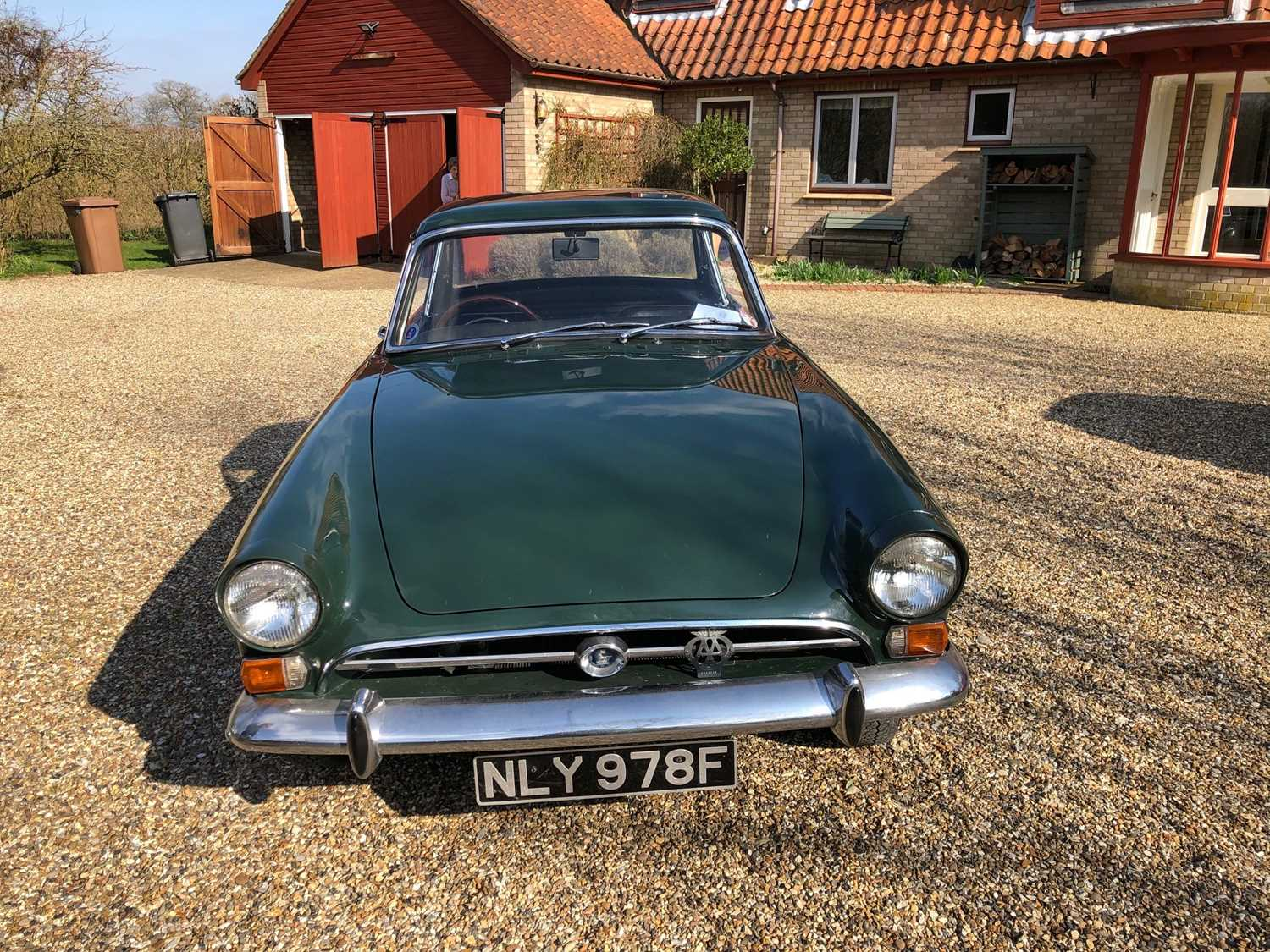 A 1968 Sunbeam Alpine Series V GT Reg No. NLY978F Chassis No. B395016307GTOD Green with Black - Image 5 of 43