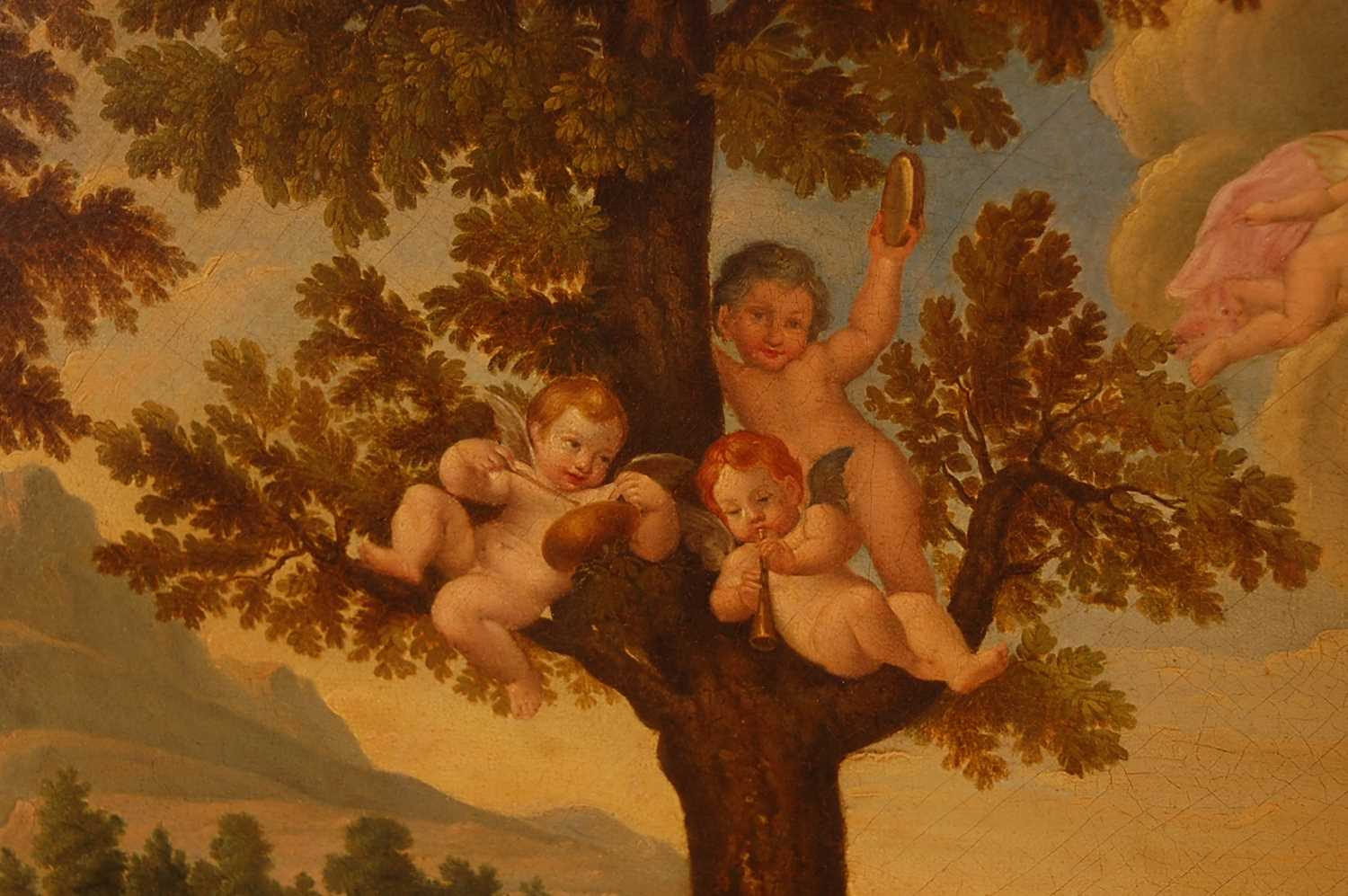 Guandallini Cententa (Italian 19th century) - Rape of Proserpine, oil on canvas, signed and dated - Image 3 of 9