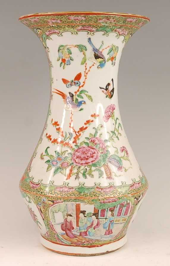 A 19th century Chinese Canton famille rose vase, enamel decorated with ceremonial figure scenes - Image 2 of 18