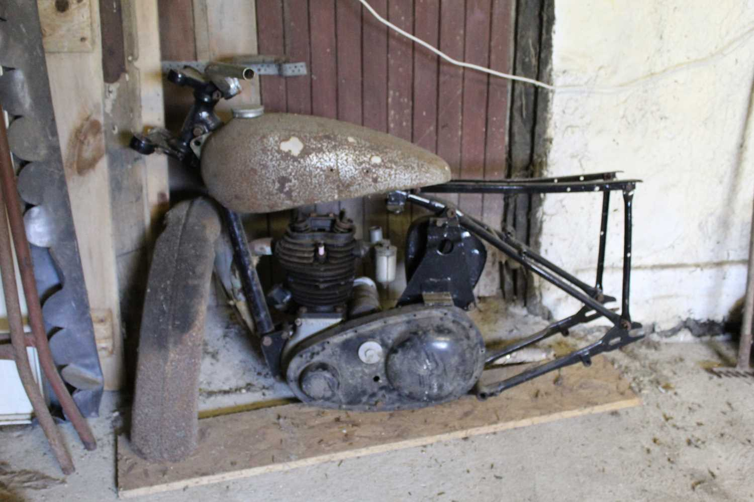A 1948 BSA C11 project for restoration, engine No. YC11 4331, frame number YC 10/77076 IMPORTANT