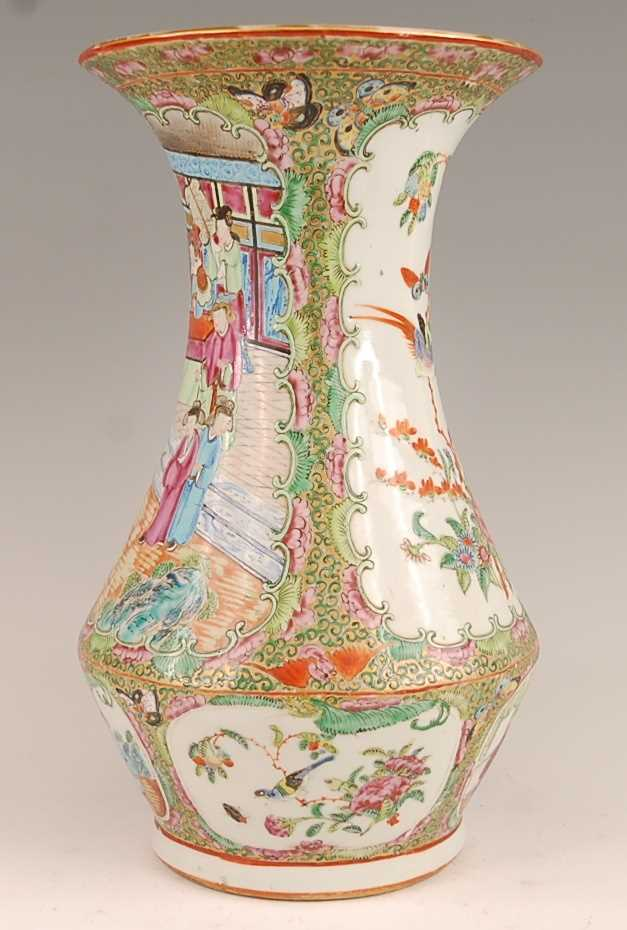 A 19th century Chinese Canton famille rose vase, enamel decorated with ceremonial figure scenes - Image 4 of 18