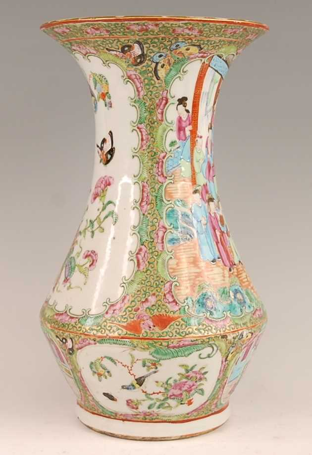 A 19th century Chinese Canton famille rose vase, enamel decorated with ceremonial figure scenes - Image 3 of 18
